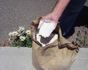 Organiczny klej / zagęstnik do hydrosiewu. Guma guar, pochodna polisaharydu.