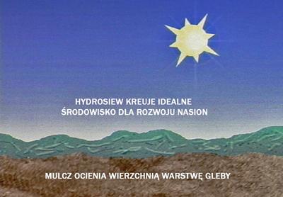 Hydrosiew - mulcz zapewnia środowisko dla nasion i ocienia warstwę gleby.