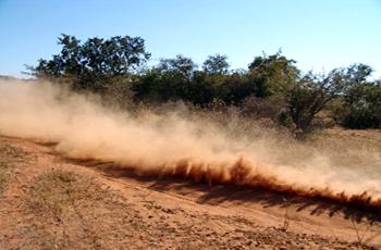 Kontrola pylenia jest niezbędna dla pokrytych pyłem dróg gruntowych.